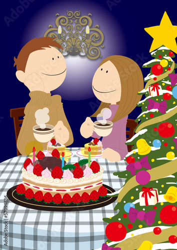 Couple_ChristmasCake