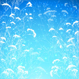 Abstract snow branches vector background