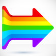 Rainbow right vector arrow