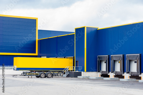 large logistic warehouse