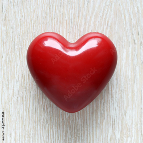 Red wax heart