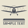 Airplane icon or sign, vector illustration