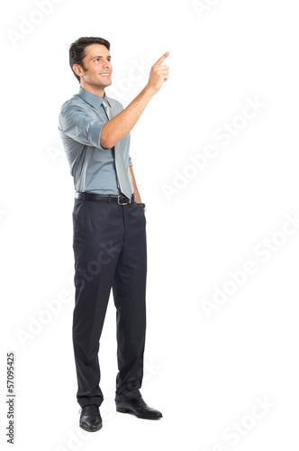 Young Businessman Pointing