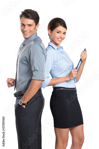 Happy Business Couple