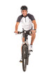 Young Male Cyclist On Bicycle - 57095699