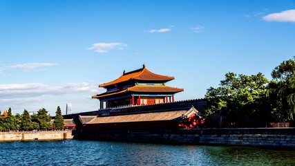 The rear entrance of the Forbidden City,Beijing,China
