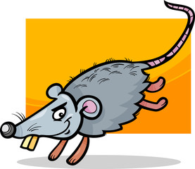 mouse or rat cartoon illustration