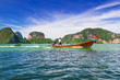 Boat in Phang Nga National Park in Thailand