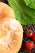 cherry tomatoes with salad and bread