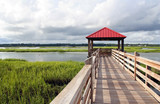 Fishing pier in a marsh at Hilton Head Island, SC