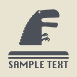 Raptor icon or sign, vector illustration poster