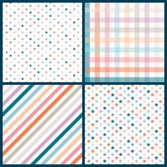 Collection 4 Seamless Birthday Pattern Retro Mix