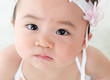Close up Asian baby girl