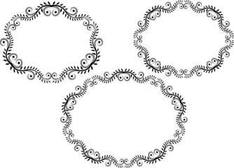 set of decorative frame - design elements