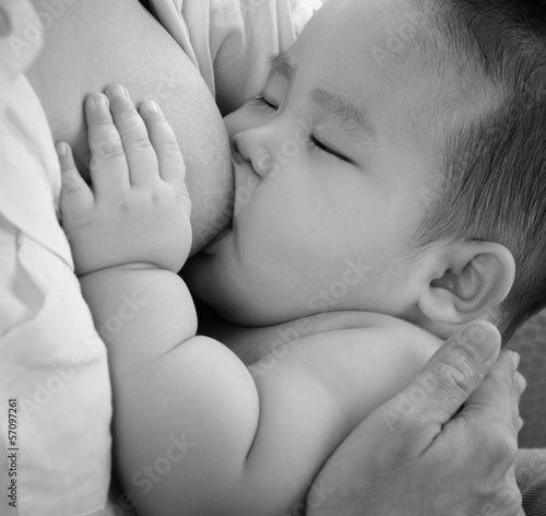 Mother breastfeeding baby
