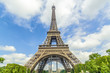 The Tower Eiffel with beautiful sky