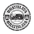 Bratislava grunge rubber stamp