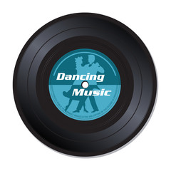 Dancing music vinyl record