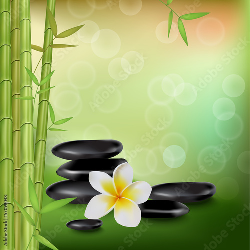 Green background of spa style