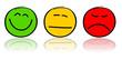 Smileys rot gelb grün