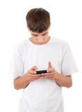 Young Man with Mobile Gadget