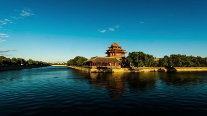 The turret of the Forbidden City in the day,Beijing,China