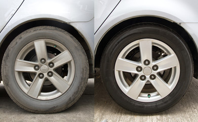 Clear the tires