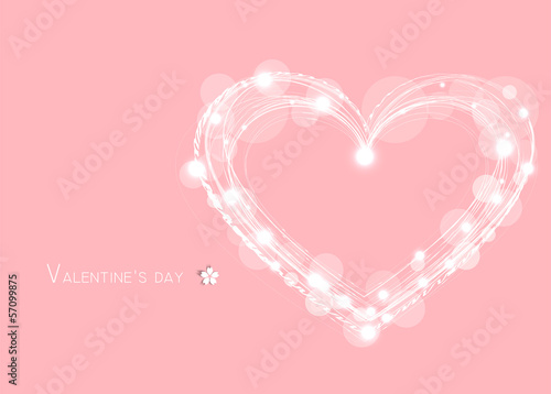 Abstract love and starts on pink background