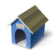 dog house vector illustration isolated on white background