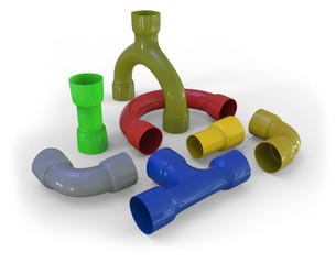 Plastic pipe fittings
