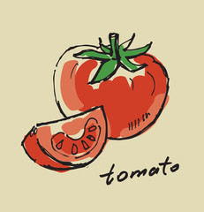 hand drawn tomato