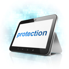 Security concept: Protection on tablet pc computer