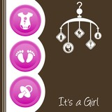Cute baby girl shower design