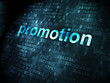 Advertising concept: Promotion on digital background