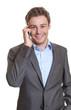 Smart businessman talking at phone