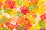 Gummy bears candies texture background