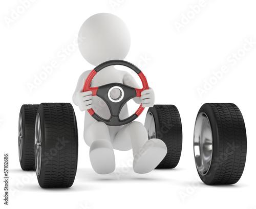 Männchen Auto fahren