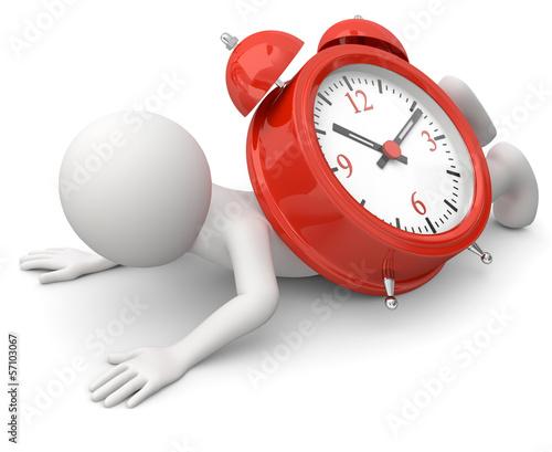 Männchen Zeitdruckdruck