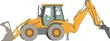 Vector silhouette of a tractor of road service