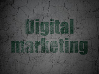 Advertising concept: Digital Marketing on grunge wall background