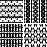 Set seamless decorative elegant pattern, vector