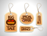Halloween Sale Tags Set orange