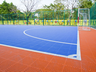 field for futsal Prior to the Match.