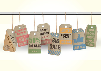 Deal Sell Sale tags vintage