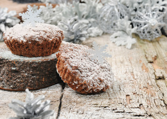 Chocolate muffins for Christmas