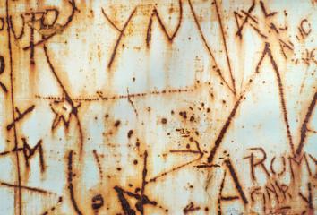 Rusty wall background grafitti