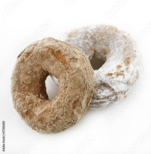 Powdered Sugar Crusty Donuts