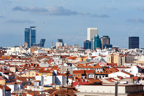 Fotobehang Madrid Madrid skyscrapers