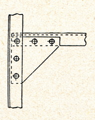 Beam bracket or beam knee