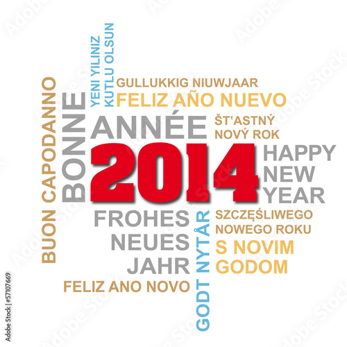 international New Year's greetings 2014